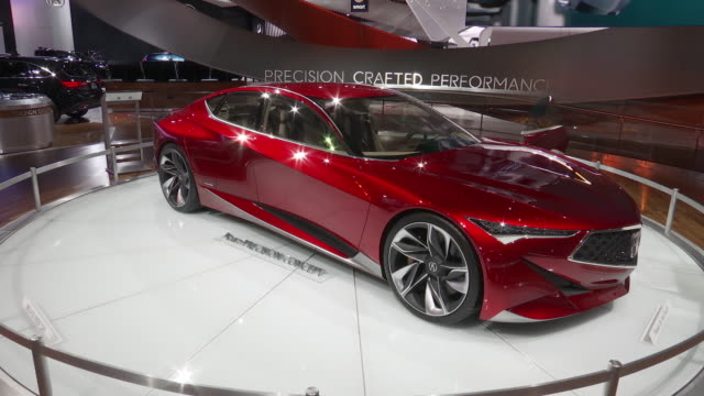 WS Acura Precision Concept revolving on turntable / CU headlight / CU front end / XCU diamond pentagon front grille / ZO MS front wheel / WS open...