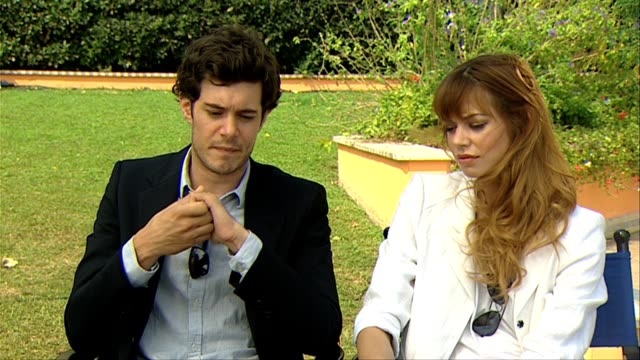 Adam Brody Analeigh Tipton on their reactions to first reading the script at the Damsels In Distress Interviews Venice Film Festival 2011 at Venice