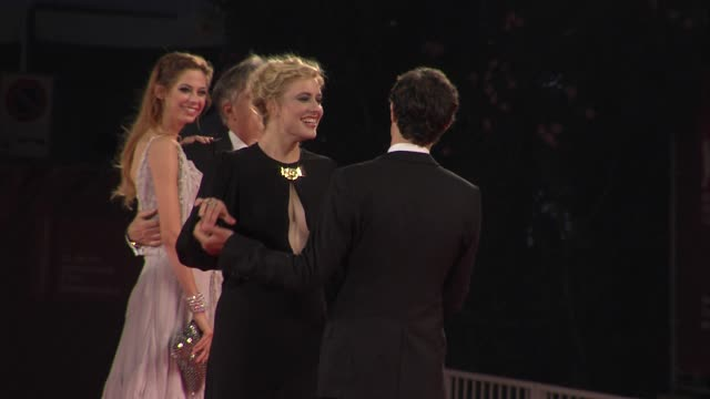 Adam Brody Analeigh Tipton Whit Stillman Greta Gerwig at the Closing Night Damsels In Distress Premiere Venice Film Festival 2011 at Venice
