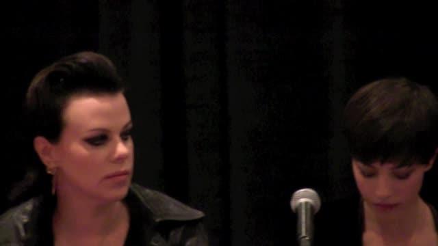 Adam Brody Josh Gad Debi Mazar and Olivia Thirlby at New York Comic Con 2011 on