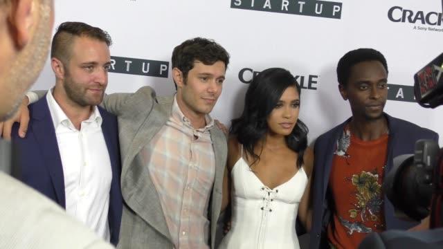 Adam Brody Otmara Marrero Edi Gathegi at the Premiere Of Crackle's Startup at London Hotel in West Hollywood in Celebrity Sightings in Los Angeles