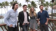Adam Driver Colin Farrell Teresa Palmer and Scott Eastwood at the 2015 Maui Film Festival At Wailea Opening Night on June 03 2015 in Wailea Hawaii
