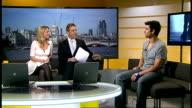 Adam Garcia to star in new West End show 'Tap Dogs' ENGLAND London GIR INT Adam Garcia LIVE STUDIO interview SOT On his new West End show 'Tap Dogs'