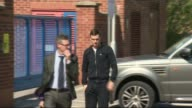 Adam Johnson charged with sexual activity with an underage girl ENGLAND County Durham Peterlee EXT Adam Johnson from car and into Peterlee Police...