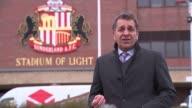 Adam Johnson found guilty of child sex charge Reporter to camera High angle shot illuminated Stadium of Light stadium