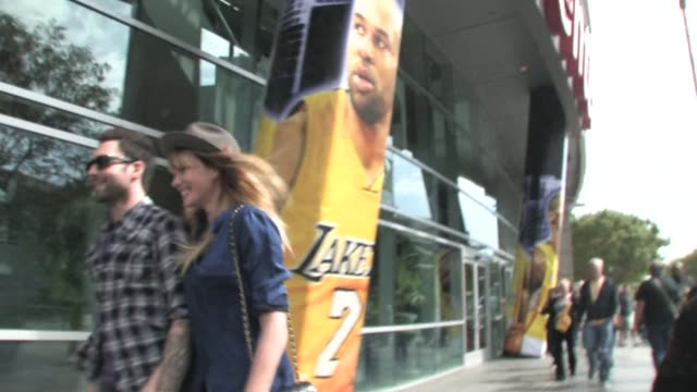 Adam Levine and Anne V at STAPLES Center in Los Angeles