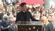 SPEECH Adam Levine at Hollywood Walk Of Fame on February 10 2017 in Hollywood California