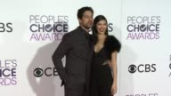 Adam Rodriguez and Grace Gail at the People's Choice Awards 2017 at Microsoft Theater on January 18 2017 in Los Angeles California