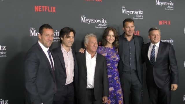 Adam Sandler Noah Baumbach Dustin Hoffman Grace Van Patten Scott Stuber Ted Sarandos at 'The Meyerowitz Stories ' Los Angeles Special Screening at...
