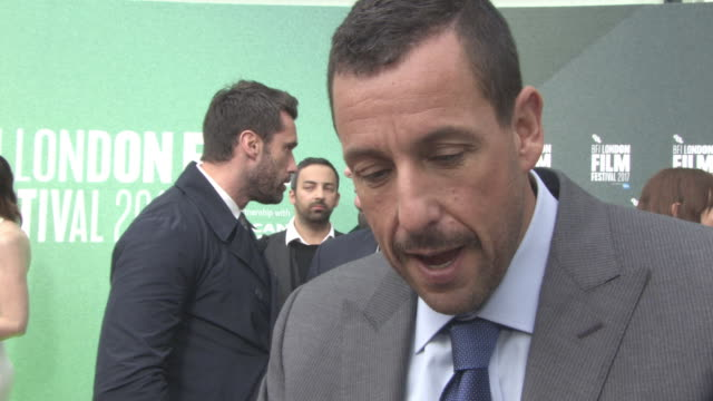 INTERVIEW Adam Sandler on being in London the type of character he plays at 'The Meyerowitz Stories' UK Premiere 61st BFI London Film Festival at...