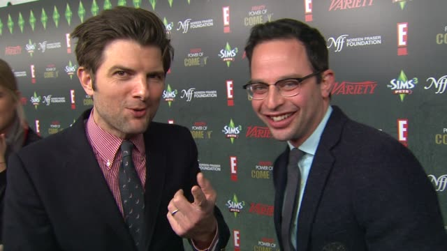 Adam Scott Nick Kroll on the event at the Variety's 2nd Annual Power Of Comedy Event at Hollywood CA