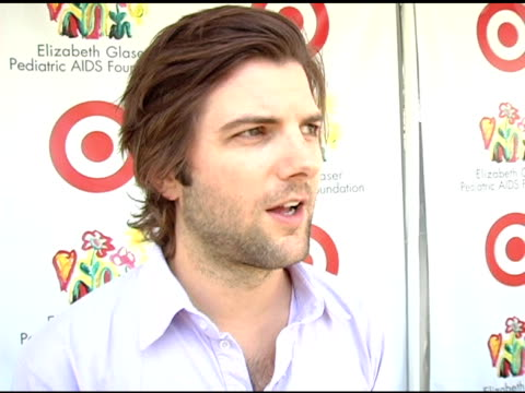Adam Scott on being asked to run a booth at the Target 'A Time For Heros' Celebrity Carnival to Benefit the Elizabeth Glaser Pediatric AIDS...