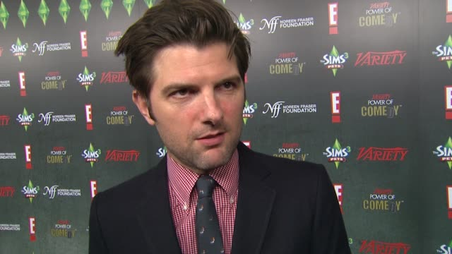 Adam Scott on the event at the Variety's 2nd Annual Power Of Comedy Event at Hollywood CA
