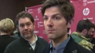 INTERVIEW Adam Scott on the film at 'The Overnight' World Premiere 2015 Sundance Film Festival at Eccles Center Theatre on January 23 2015 in Park...