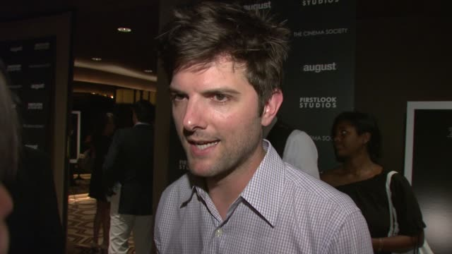 Adam Scott talks about working with the cast the internal struggle between his character and Josh Harnett's and what he would have done in the...