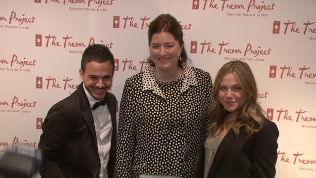 Adamo Ruggiero Sarah Tomassi Lindmann and Lauren Collins at the 8th Annual Trevor Project New York Gala at New York NY
