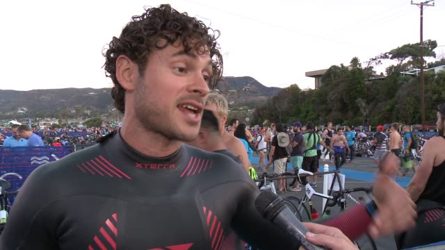 INTERVIEW Adan Canto on participating today his new marathon craze and working with Chace on their new show at Nautica Malibu Triathlon Presented By...