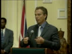 Addis Ababa INT Tony Blair MP speech SOT Just as I have had to accept that the evidence now is there were no stockpiles of actual weapons ready to be...