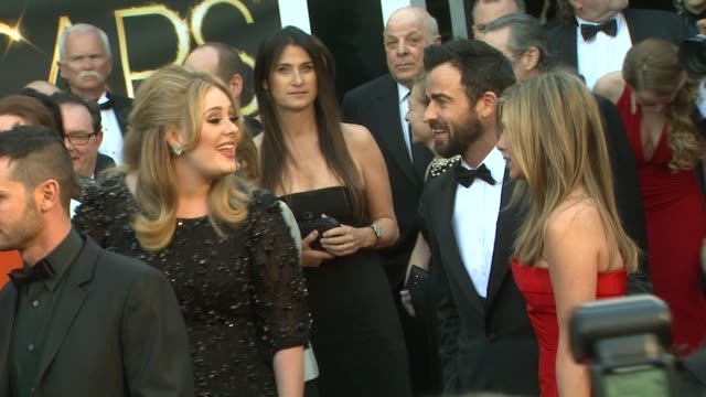 Adele and Jennifer Aniston at 85th Annual Academy Awards Arrivals in Hollywood CA on 2/24/13