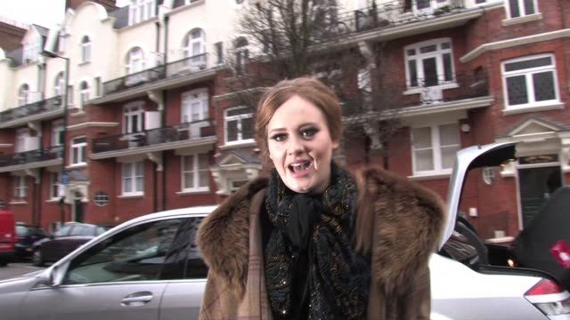 Adele arrives to perform on the BBC Radio One Live Lounge Sighted Adele at BBC Maida Vale on January 27 2011 in London England