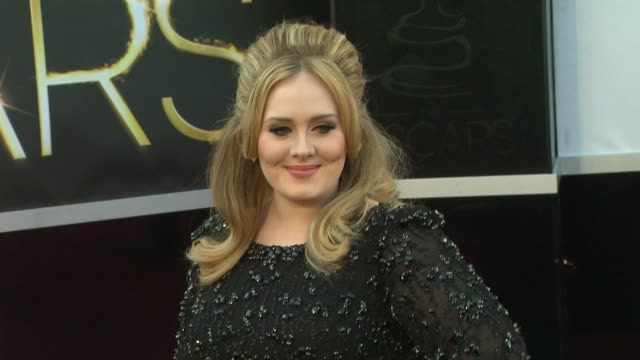 Adele at 85th Annual Academy Awards Arrivals in Hollywood CA on 2/24/13
