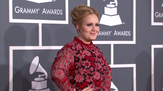 Adele at The 55th Annual GRAMMY Awards Arrivals in Los Angeles CA on 2/10/13