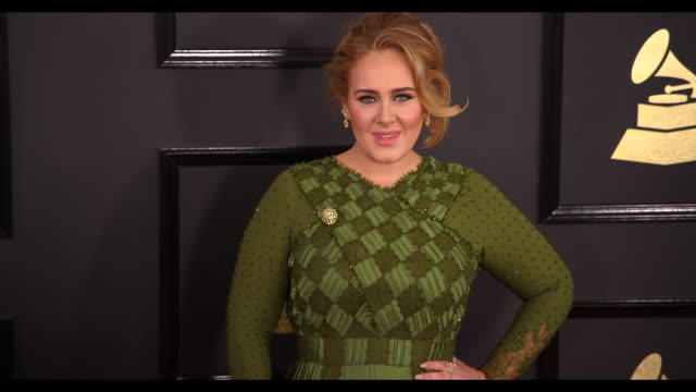 Adele at the 59th Annual Grammy Awards Arrivals at Staples Center on February 12 2017 in Los Angeles California 4K
