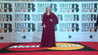 Adele at The BRIT Awards> at The O2 Arena on February 24 2016 in London England