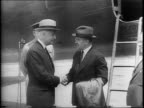 Admiral Ernest King Secretary of State Cordell Hull General George Marshall Maxim Litvinov and Soviet Foreign Minister Vyacheslav M Molotov pose for...