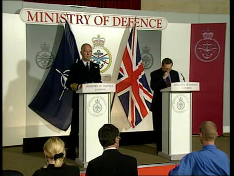 NATO admits hitting bus on bridge UK London Ministry of Defence Mod briefing MOD Spokesman press statement SOT The captivity of those three soldiers...