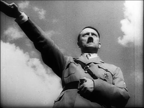 Adolf Hitler saluting / heiling / documentary