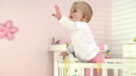 HD DOLLY: Adorable Baby Reaching For Her Mum
