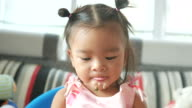 Adorable Little girl Eating Food
