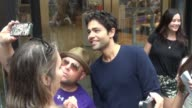 Adrian Grenier at the 'TODAY' show poses for photos and signs for fans in Celebrity Sightings in New York