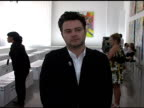 Adrian Nyman at the Warhol Factory X Levi's X Damien Hirst Fashion Show at Gagosian Gallery in New York New York on September 9 2007