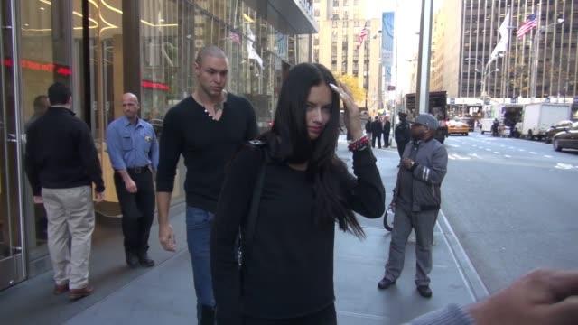 Adriana Lima and her husband Marko Jaric at SiriusXM Satellite Radio Celebrity Sightings on 11/4/15 in New York City New York