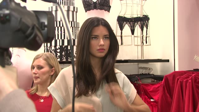 Adriana Lima at the Adriana Lima and Doutzen Kroes Unveil the New Vintage Victoria Collection at New York NY