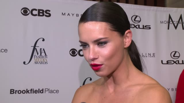 INTERVIEW Adriana Lima on who she's wearing tonight She's presenting an award tonight to a very special friend tonight She loves her so much that's...