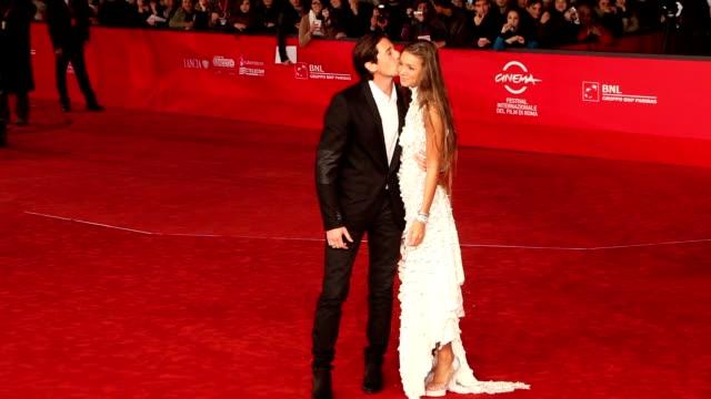 Adrien Brody and Lara Lieto at '1942' Premiere 7th Rome Film Festival at Auditorium Parco Della Musica on November 11 2012 in Rome Italy
