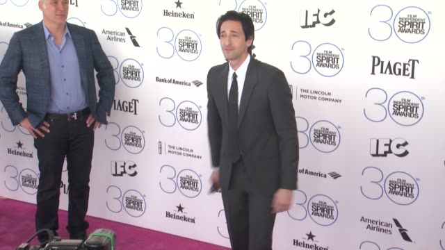 Adrien Brody at 30th Annual Film Independent Spirit Awards Arrivals at Santa Monica Beach on February 21 2015 in Santa Monica California