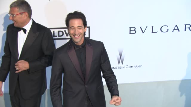 Adrien Brody at AmfAR Red Carpet at Hotel du CapEdenRoc on May 22 2014 in Cap d'Antibes France