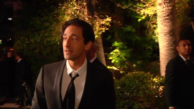 Adrien Brody at The 2013 Vanity Fair Oscar Party Hosted By Graydon Carter Adrien Brody at The 2013 Vanity Fair Oscar Party at Sunset Tower on...