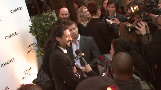 Adrien Brody at the 8th Annual Tribeca Film Festival Chanel Dinner at New York NY