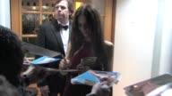 Adrien Brody exclusive kiss Jessica Chastain and boyfriend Gian Luca Passi de Preposulo Robin Thicke and Paula Patton Olga Kurylenko at The Vanity...