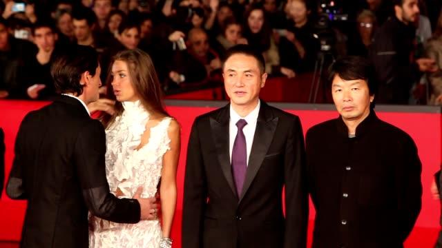 Adrien Brody Lara Lieto Wang Zhonglei Xu Fan Feng Xiaogang and Zhang Guo Li at '1942' Premiere 7th Rome Film Festival at Auditorium Parco Della...