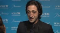 Adrien Brody on having made collections for UNICEF as a child at the 2011 UNICEF Snowflake Ball at New York NY