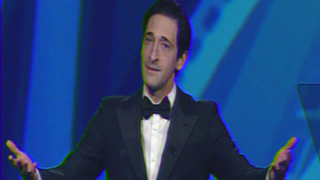 Adrien Brody presents for Gary Oldman at The 23rd Annual Palm Springs International Film Festival Awards Gala on in Palm Springs CA
