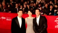 Adrien Brody Xu Fan and Zhang Guo Li at '1942' Premiere 7th Rome Film Festival at Auditorium Parco Della Musica on November 11 2012 in Rome Italy