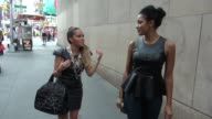 Adrienne Bailon and Julissa Bermudez outside Viacom in New York NY on 08/20/12