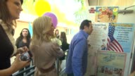 Adrienne Maloof Dr Paul Nassif at the OfficeMax's 'A Day Made Better' School Advocacy Campaign With Adrienne Maloof And Dr Paul Nassif at Sherman...